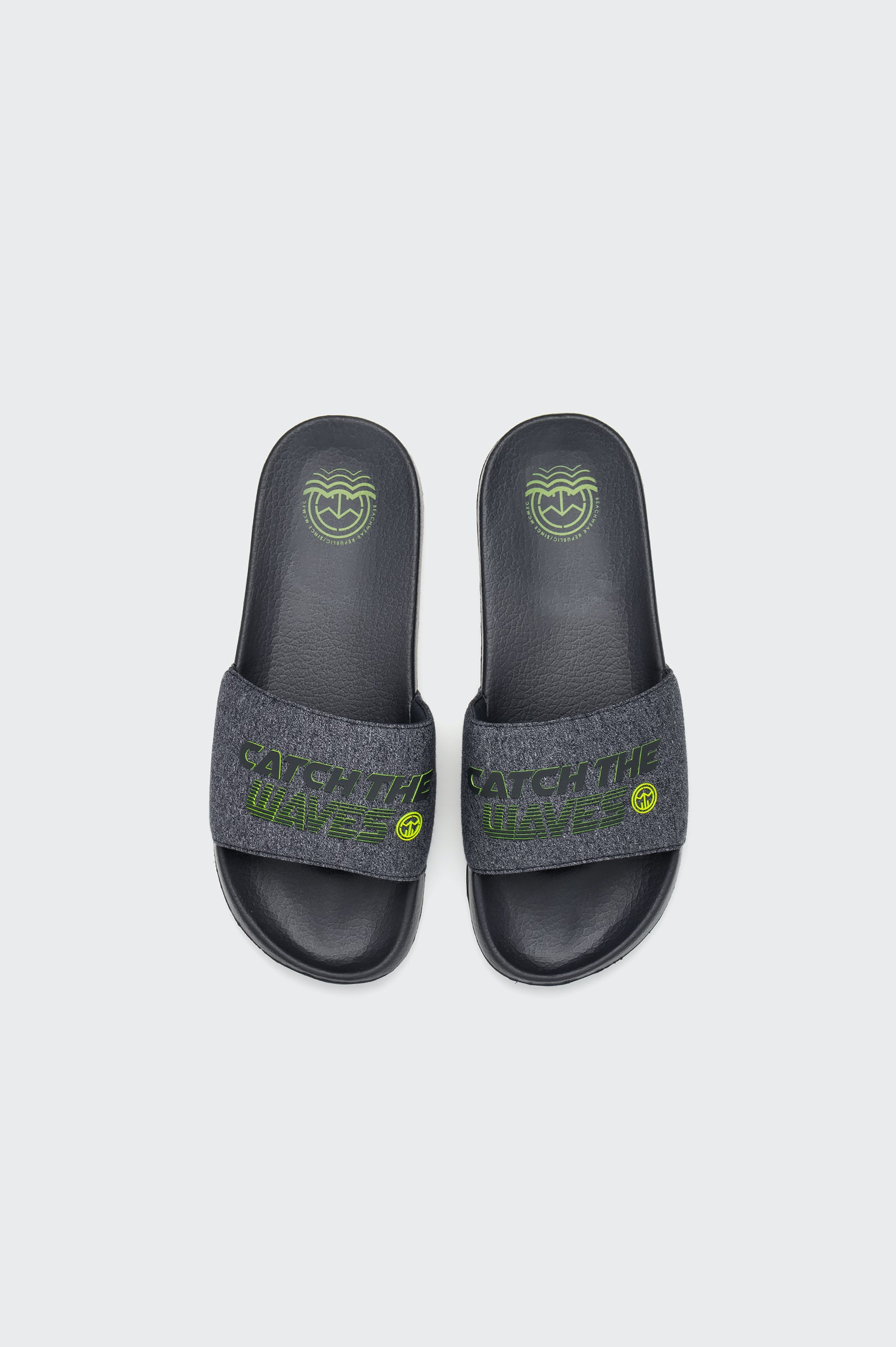 TONGS  FREESTYLE POLINESIA WAVES SLIDE MN HOMME